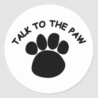 Talk to the Paw Sticker 2