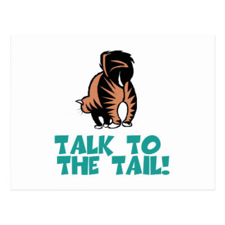 Talk to the Tail Cat Postcard