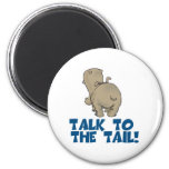 Talk to the Tail Hippo 6 Cm Round Magnet