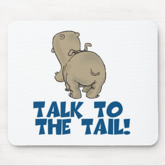 Talk to the Tail Hippo Mouse Mat