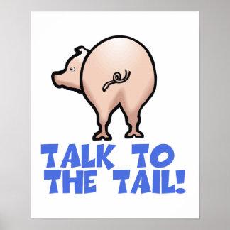 Talk to the Tail Piggy Pig Print