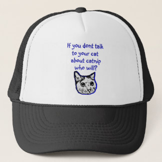 Talk to your cat about catnip cap