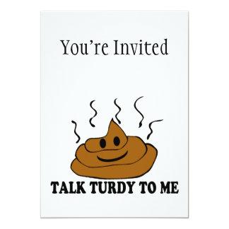 Talk Turdy To Me 13 Cm X 18 Cm Invitation Card