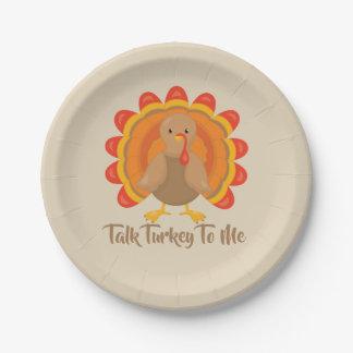 Talk Turkey To Me Paper Plate