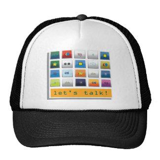 talk wear cap