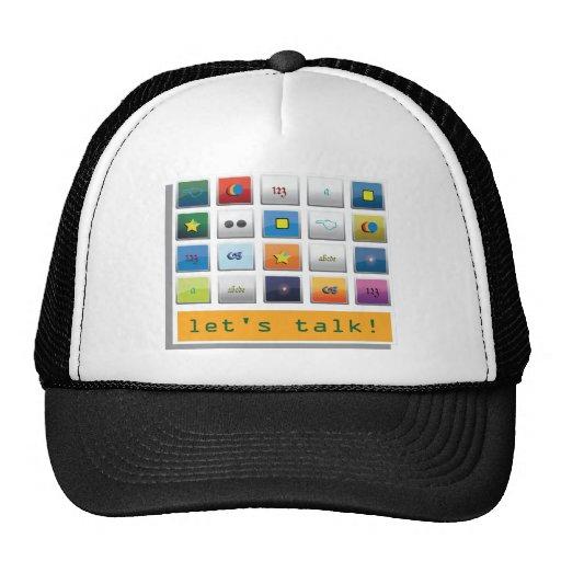 talk wear mesh hats