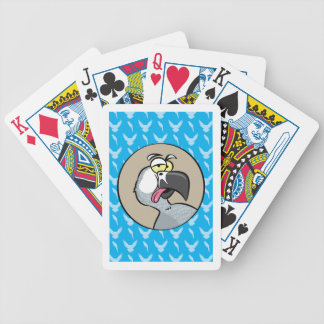 Talking African Grey Parrot Bicycle Playing Cards