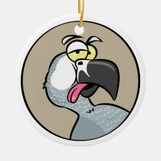 Talking African Grey Parrot Christmas Ornament