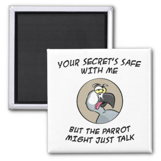 Talking African Grey Parrot Magnet