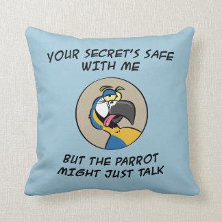 Talking Blue Macaw Parrot Cushion