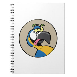 Talking Blue Macaw Parrot Spiral Notebooks