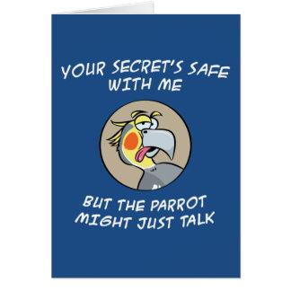 Talking Cockatiel Parrot Card