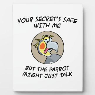 Talking Cockatiel Parrot Plaque