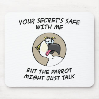 Talking Cockatoo Parrot Mouse Pad