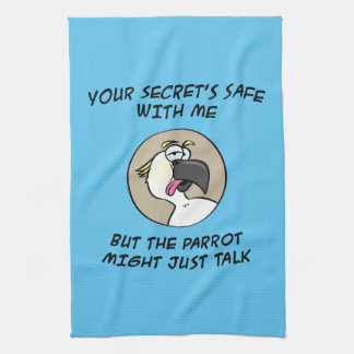 Talking Cockatoo Parrot Tea Towel