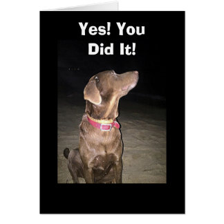 TALKING DOG CONGRATULATES ON JOB WELL DONE GREETING CARD