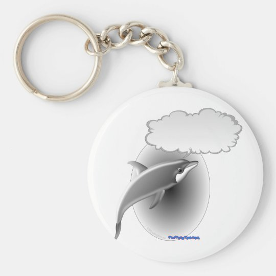 Talking Dolphin Basic Round Button Key Ring