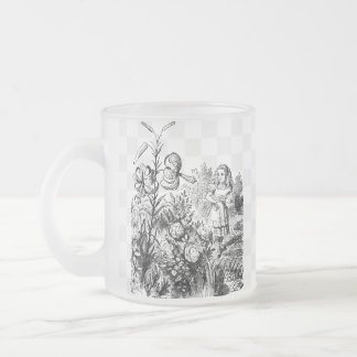 Talking Flowers Frosted Glass Mug