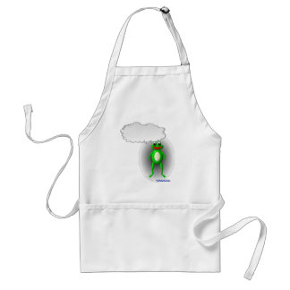 Talking Frog Characature Standard Apron