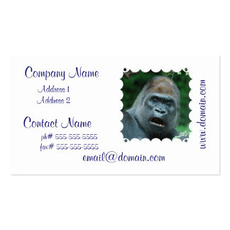 Talking Gorilla Pack Of Standard Business Cards