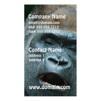 Talking Gorilla Double-Sided Standard Business Cards (Pack Of 100)