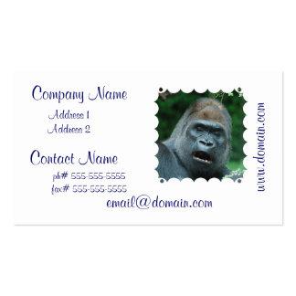 Talking Gorilla Pack Of Standard Business Cards