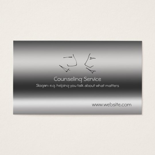 Talking Heads, Counsellor, metallic-effect Business Card