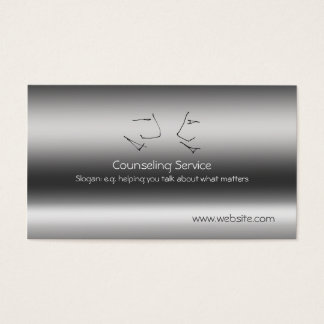 Talking Heads, Counselor, metallic-effect Business Card