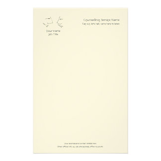 Talking Heads, line-art logo of two heads talking Stationery