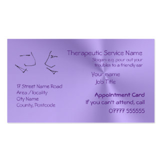 Talking Heads, Therapy Appointment Reminders Pack Of Standard Business Cards