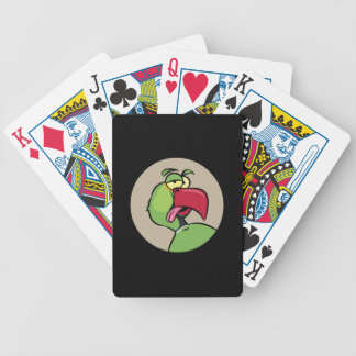 Talking Indian Ringneck Parrot Bicycle Playing Cards