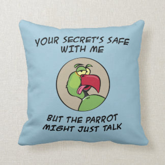 Talking Indian Ringneck Parrot Cushion