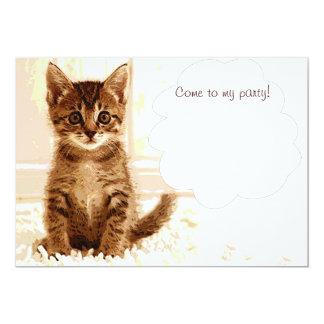 Talking kitten announcement card