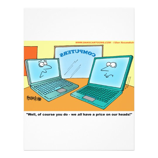 Talking Laptop Computer Cartoon 21.5 Cm X 28 Cm Flyer