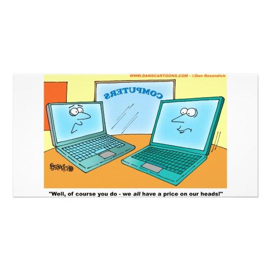 Talking Laptop Computer Cartoon Card
