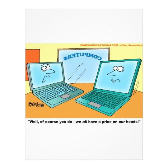 Talking Laptop Computer Cartoon Flyer