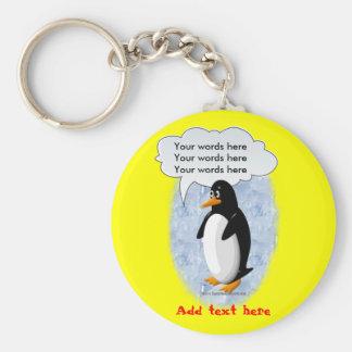 Talking Penguin Key Ring