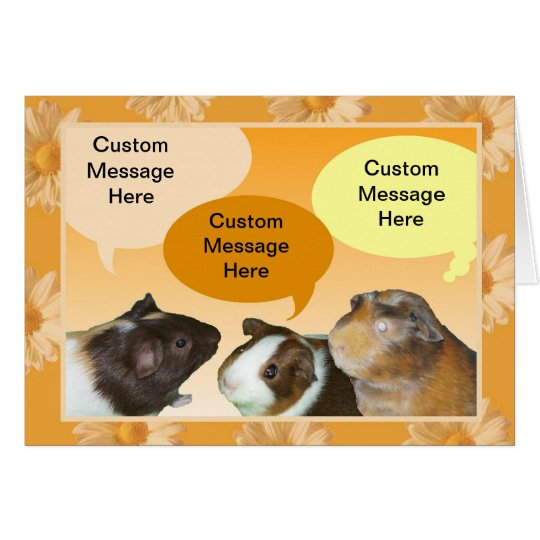 Talking Piggies Greeting Card