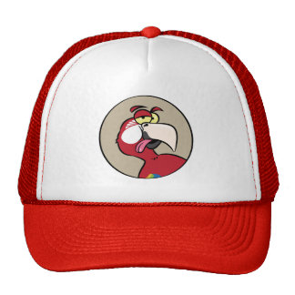 Talking Red Macaw Parrot Cap