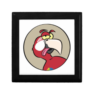 Talking Red Macaw Parrot Gift Box