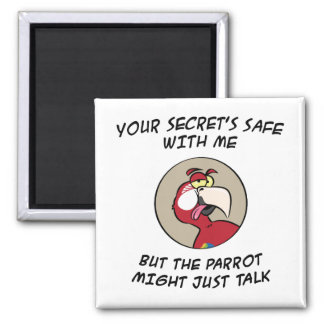 Talking Red Macaw Parrot Magnet