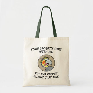 Talking Red Macaw Parrot Tote Bag