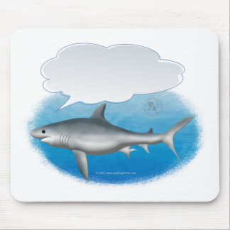 Talking Shark Mouse Mat