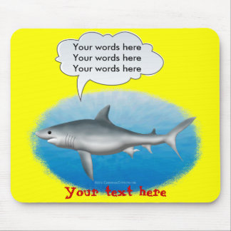 Talking Shark Template Mouse Pad