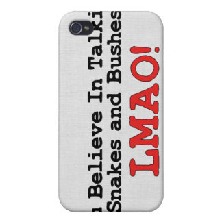 Talking Snakes and Bushes iPhone 4/4S Covers