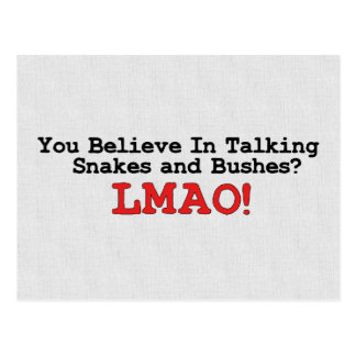 Talking Snakes and Bushes Postcard
