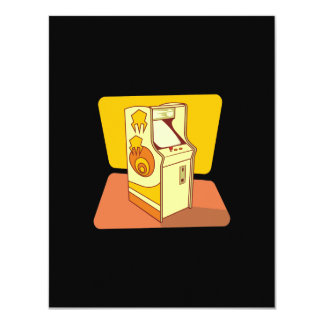 Tall arcade game console 11 cm x 14 cm invitation card