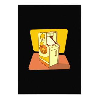 Tall arcade game console 9 cm x 13 cm invitation card