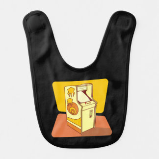 Tall arcade game console baby bibs