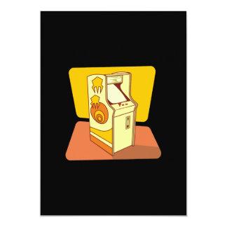 "Tall arcade game console 5"" x 7"" invitation card"